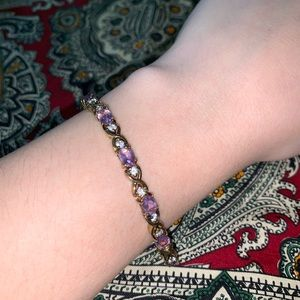 Jewelry - Amethyst Vermeil Tennis Bracelet